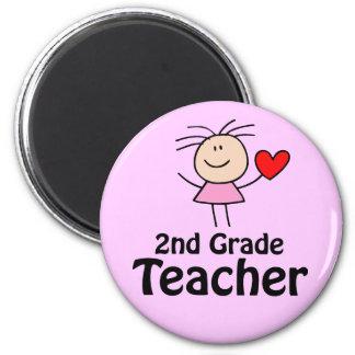 I Heart 2nd Grade Teacher Magnet
