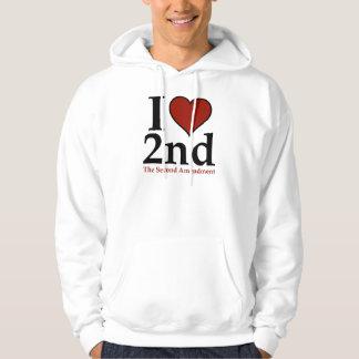 I Heart 2nd (Second Amendment) Hoodie