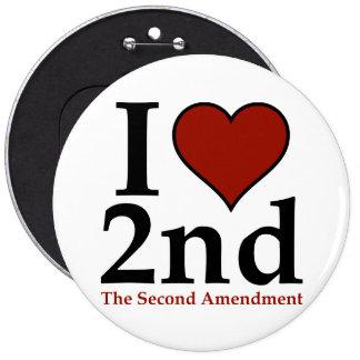 I Heart 2nd (Second Amendment) Pinback Button