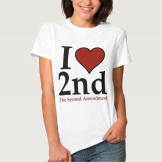 I Heart 2nd (Second Amendment) Shirts