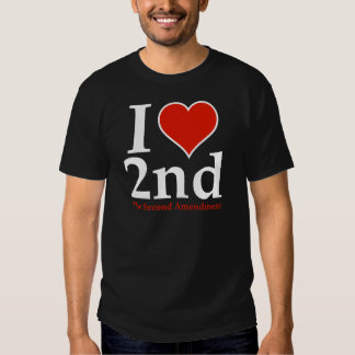 I Heart 2nd (Second Amendment) T-shirts