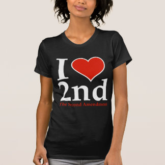 I Heart 2nd (Second Amendment) T Shirts