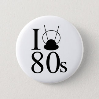 I Heart 80s Button