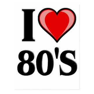 I heart 80's Design Postcard