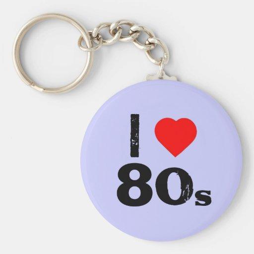 """I Heart 80's"" Key Chain"