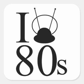 I Heart 80s Square Sticker