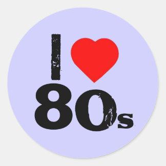 """""""I Heart 80's"""" Stickers"""