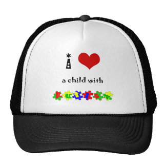 I Heart a Child with Autism Trucker Hat