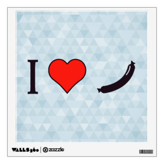 I Heart A Decent Sized Meal Wall Sticker