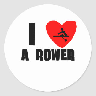 I Heart A Rower Sticker
