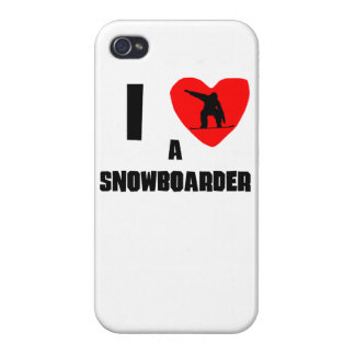 I Heart A Snowboarder iPhone 4/4S Covers