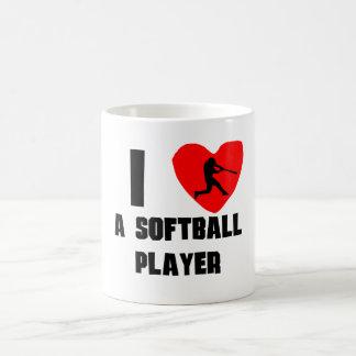 I Heart A Softball Player 11 Oz Magic Heat Color-Changing Coffee Mug
