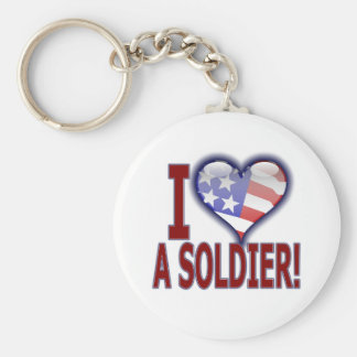 I (heart) a Soldier! Keychain