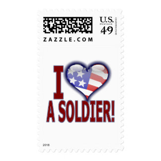I (heart) a Soldier! Postage