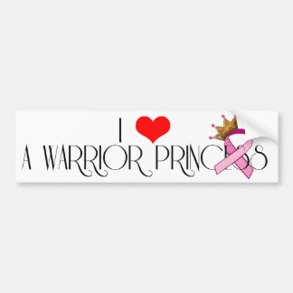 I Heart A Warrior Princess Bumper Sticker