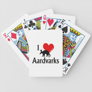 I Heart Aardvarks Bicycle Playing Cards