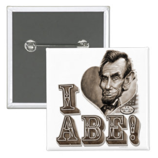I Heart Abe Lincoln Buttons