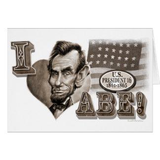 I Heart Abe Lincoln Card