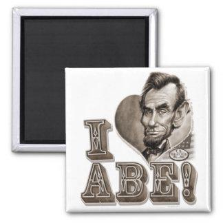 I Heart Abe Lincoln Magnet