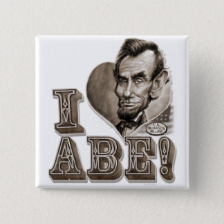I Heart Abe Lincoln Pinback Button