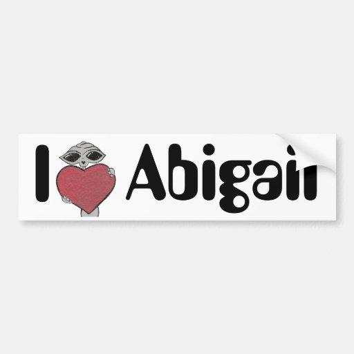 I Heart Abigail Alien Bumper Stickers
