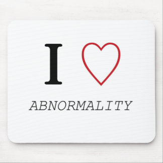 I Heart ABNORMALITY Mouse Pads