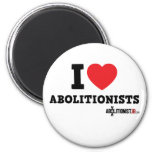 I Heart Abolitionists Refrigerator Magnet