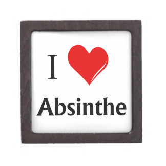 I Heart Absinthe Jewelry Box