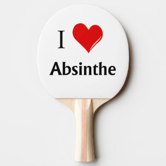 I Heart Absinthe Ping-Pong Paddle
