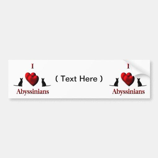 I Heart Abyssinian s Bumper Sticker