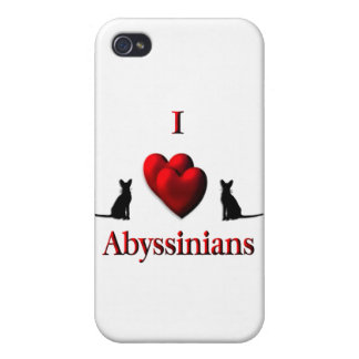 I Heart Abyssinian s iPhone 4 Cases