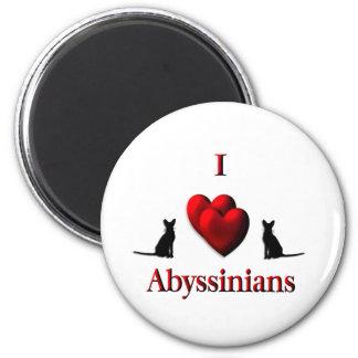 I Heart Abyssinian s Refrigerator Magnet