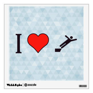 I Heart Accidents Wall Decal