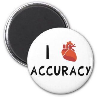I Heart Accuracy 2 Inch Round Magnet