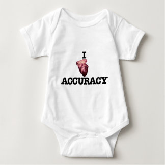 I Heart Accuracy Baby Bodysuit