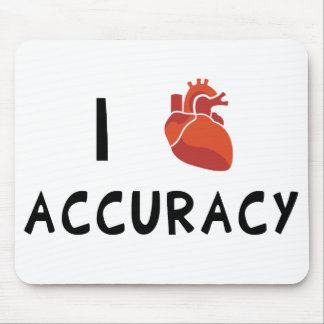 I Heart Accuracy Mouse Pad