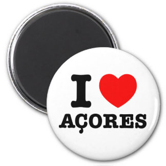 I heart Acores 2 Inch Round Magnet