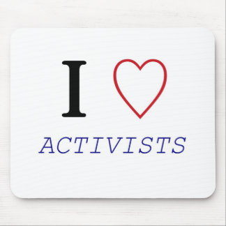 I Heart ACTIVISTS Mouse Pads