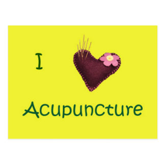 I Heart Acupuncture Postcard