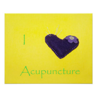 I heart Acupuncture Poster