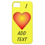 I HEART Add Text iPhone 5 Cases