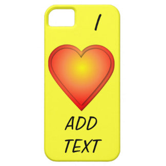 I HEART Add Text iPhone SE/5/5s Case