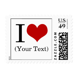 I Heart (Add Your Own Custom Text) Template Postage Stamp