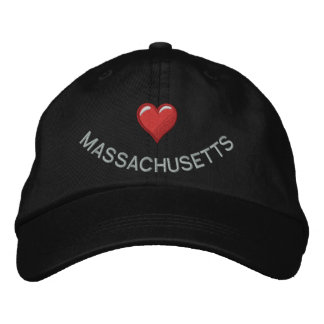 I heart add your state personalized embroidered baseball cap