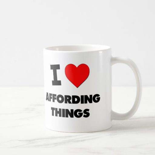 I Heart Affording Things Mugs