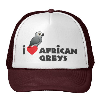 I Heart African Greys Mesh Hats