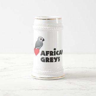 I Heart African Greys Mug