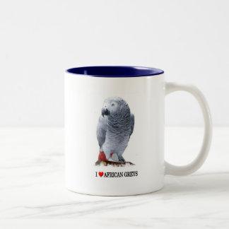 I heart African greys Coffee Mug