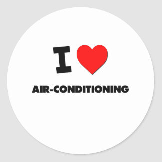 I Heart Air-Conditioning Round Stickers