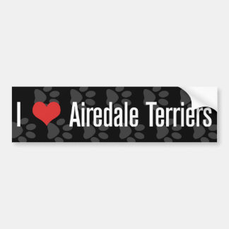 I (heart) Airedale Terriers Bumper Sticker